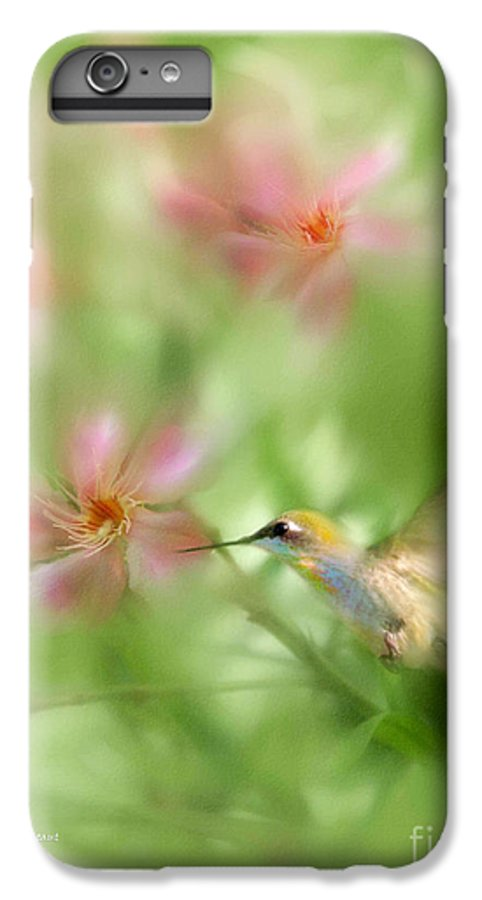 Garden Hummingbird Floral Green Tropical Oleander IPhone 6s Plus Case featuring the photograph Little Miracles by Carolyn Staut