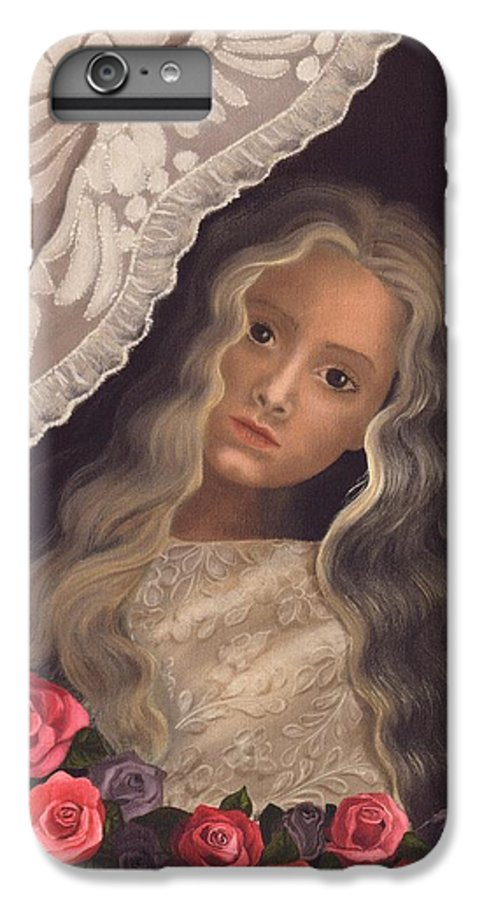 Victorian IPhone 6s Plus Case featuring the painting Longing by Brenda Ellis Sauro