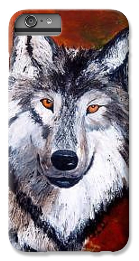 Palette Knife IPhone 6s Plus Case featuring the painting Look Into My Eyes by Tami Booher