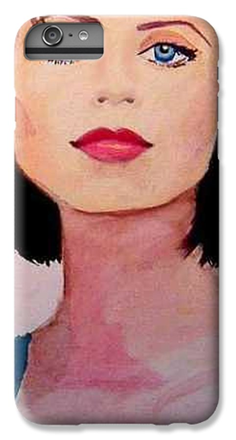 Sexy Lady IPhone 6s Plus Case featuring the painting Look by Laura Rispoli