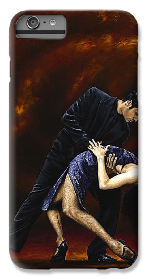 Tango IPhone 6s Plus Case featuring the painting Lost In Tango by Richard Young