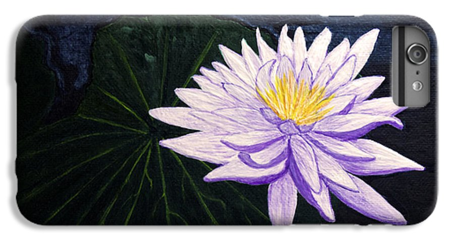 Original Painting IPhone 6s Plus Case featuring the painting Lotus Blossom At Night by Patricia Griffin Brett