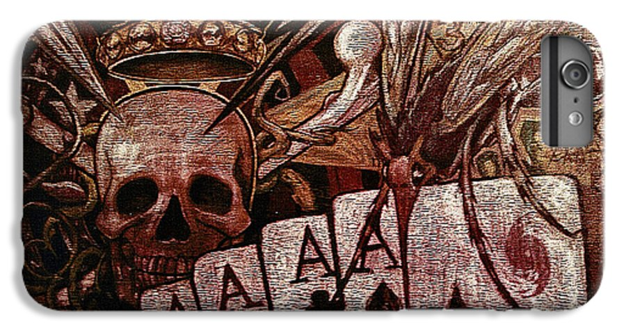Skull IPhone 6s Plus Case featuring the painting Louisiana's Ruin by Will Le Beouf