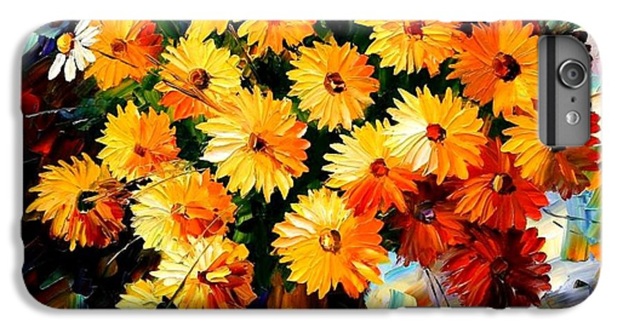 Flowers IPhone 6s Plus Case featuring the painting Love Irradiation by Leonid Afremov