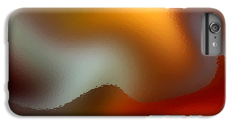 Abstract IPhone 6s Plus Case featuring the digital art Luminous Waves by Ruth Palmer