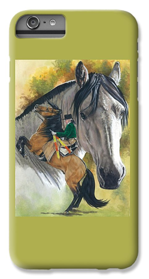 Hoof Stock IPhone 6s Plus Case featuring the mixed media Lusitano by Barbara Keith