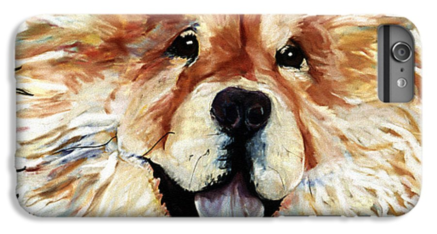 Chow Chow IPhone 6s Plus Case featuring the pastel Madame Chu Cho by Pat Saunders-White