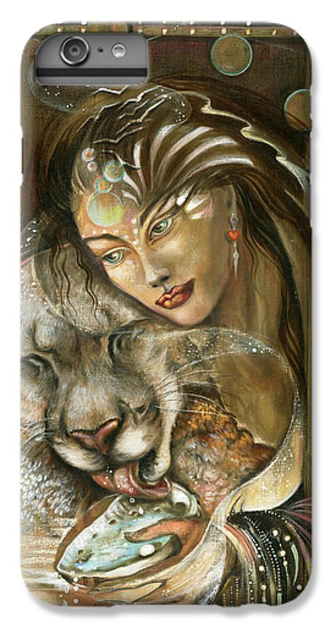 Wildlife IPhone 6s Plus Case featuring the painting Madonna by Blaze Warrender
