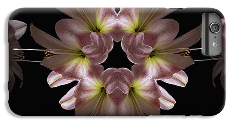 Mandala IPhone 6s Plus Case featuring the digital art Mandala Amarylis by Nancy Griswold