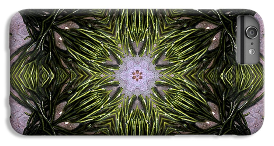 Mandala IPhone 6s Plus Case featuring the digital art Mandala Sea Sponge by Nancy Griswold