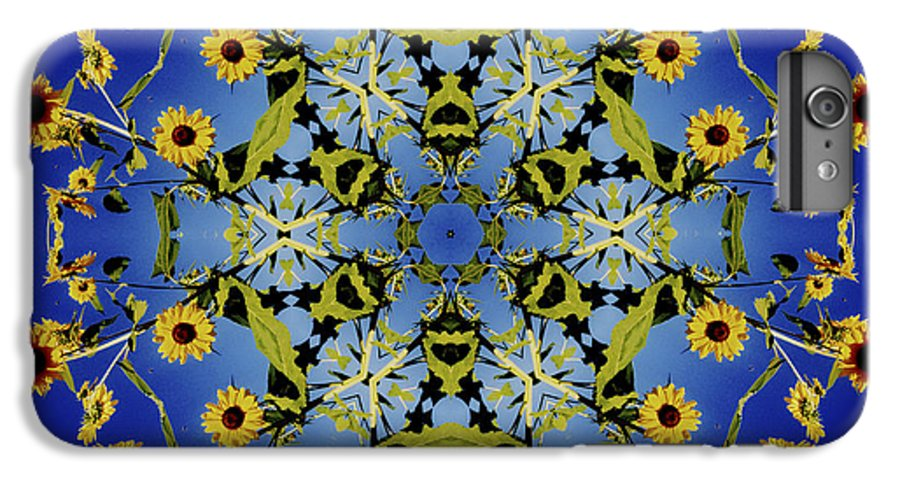 Mandala IPhone 6s Plus Case featuring the digital art Mandala Sunflower by Nancy Griswold