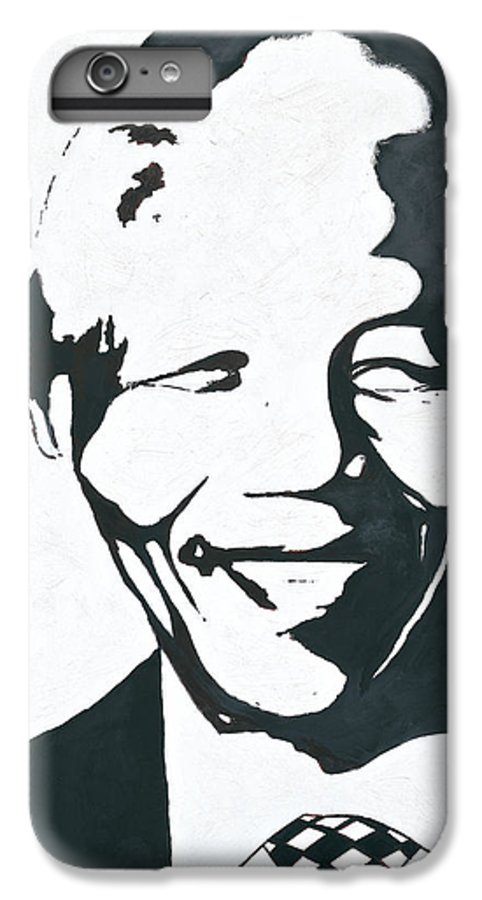 Mandela By Emeka! IPhone 6s Plus Case featuring the painting Mandela by Emeka Okoro