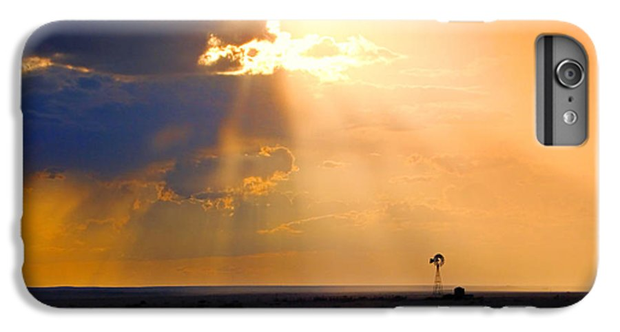 Skip Hunt IPhone 6s Plus Case featuring the photograph Marfa Windmill 1 by Skip Hunt