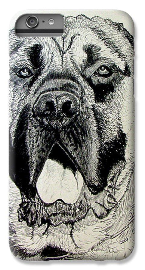 Mastiff IPhone 6s Plus Case featuring the drawing Mastiff by Stan Hamilton