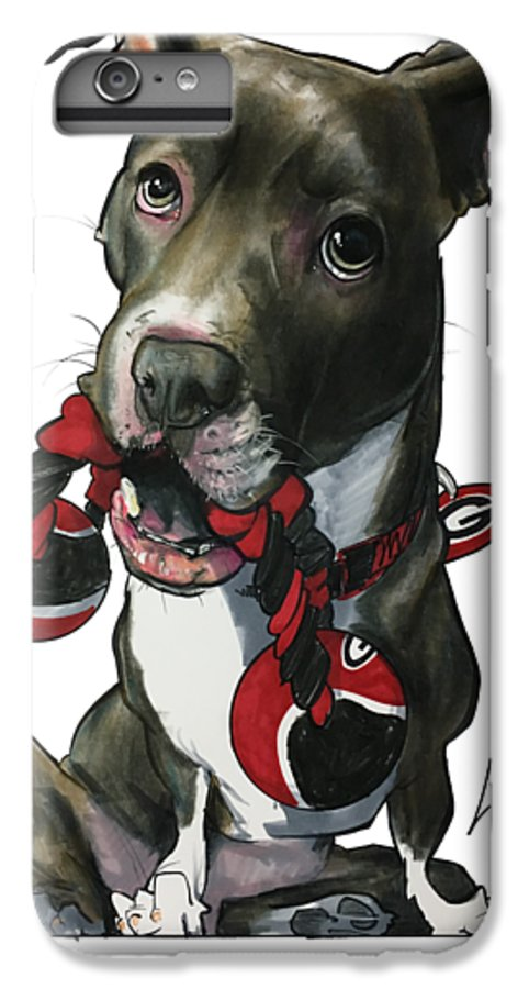 Pet Portrait IPhone 6s Plus Case featuring the drawing Mauras 3412 by John LaFree