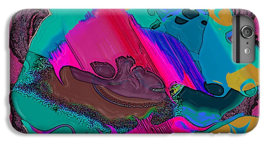 Ebsq IPhone 6s Plus Case featuring the digital art Mauve Abstract by Dee Flouton