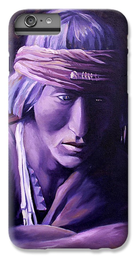 Native American IPhone 6s Plus Case featuring the painting Medicine Man by Nancy Griswold