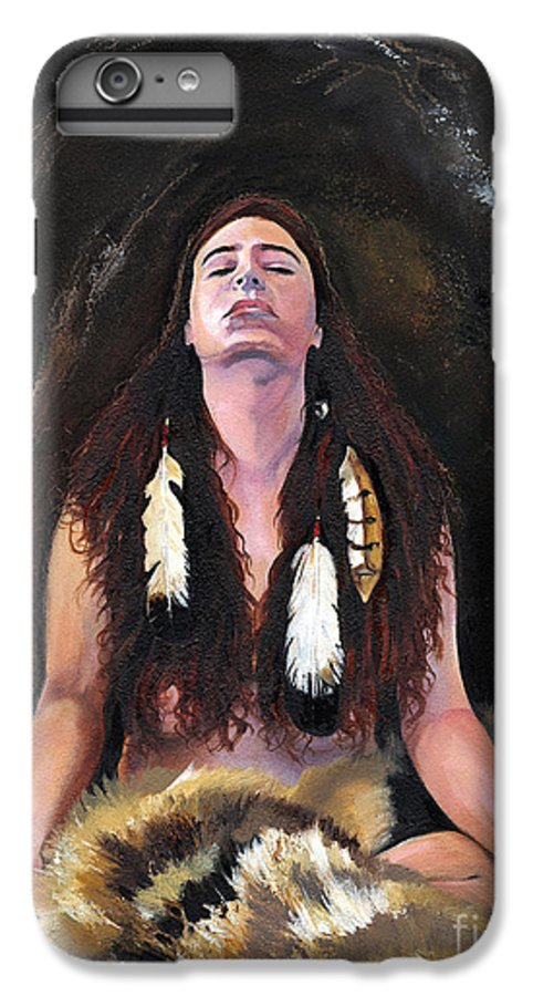 Southwest Art IPhone 6s Plus Case featuring the painting Medicine Woman by J W Baker