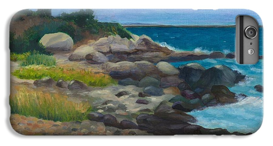 Landscape IPhone 6s Plus Case featuring the painting Meigs Point by Paula Emery