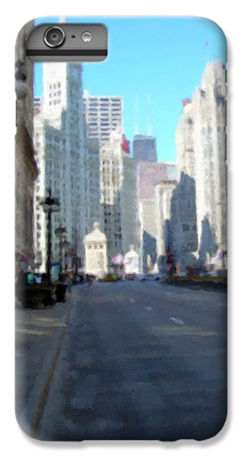 Chicago IPhone 6s Plus Case featuring the digital art Michigan Ave Tall by Anita Burgermeister