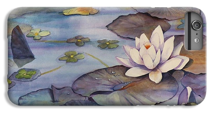 Lily IPhone 6s Plus Case featuring the painting Midnight Lily by Jun Jamosmos