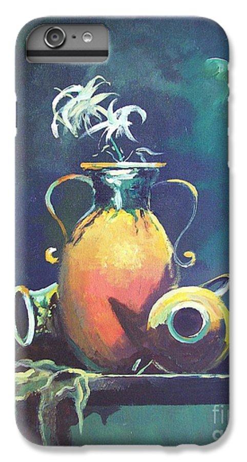 Still Life IPhone 6s Plus Case featuring the painting Midnight Moon by Sinisa Saratlic