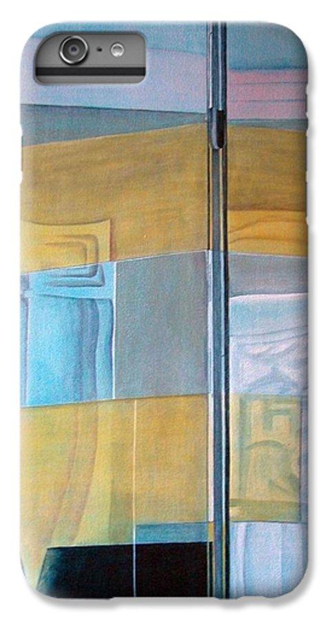 Miroir IPhone 6s Plus Case featuring the painting Miroir by Muriel Dolemieux