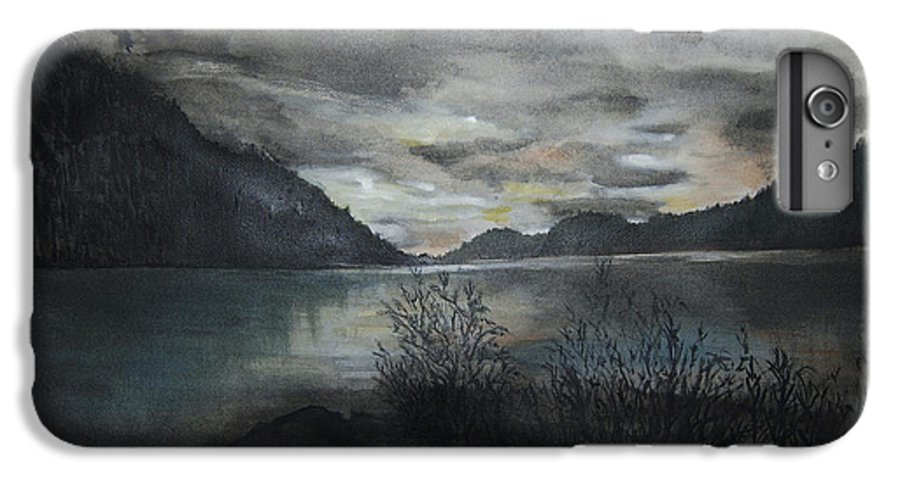 Sunset IPhone 6s Plus Case featuring the painting Missezula Lake Sunset by Susan Moore