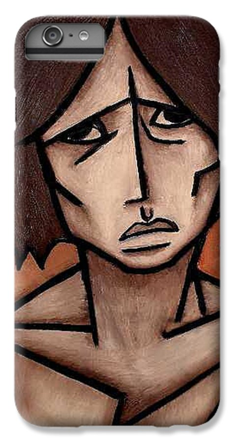 Potrait IPhone 6s Plus Case featuring the painting Missy by Thomas Valentine