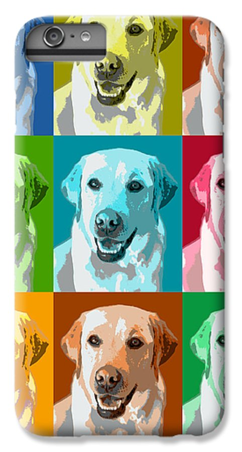 Americana IPhone 6s Plus Case featuring the photograph Golden Retriever Warhol by Marilyn Hunt