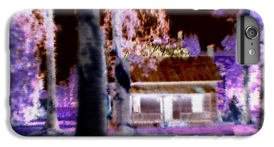 Cabin IPhone 6s Plus Case featuring the digital art Moonlight Cabin by Seth Weaver