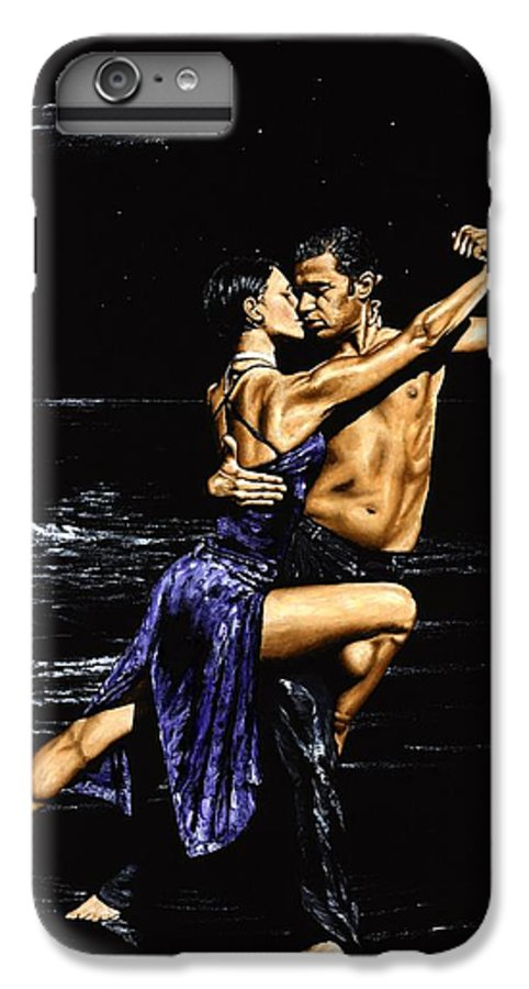 Moonlight IPhone 6s Plus Case featuring the painting Moonlight Tango by Richard Young