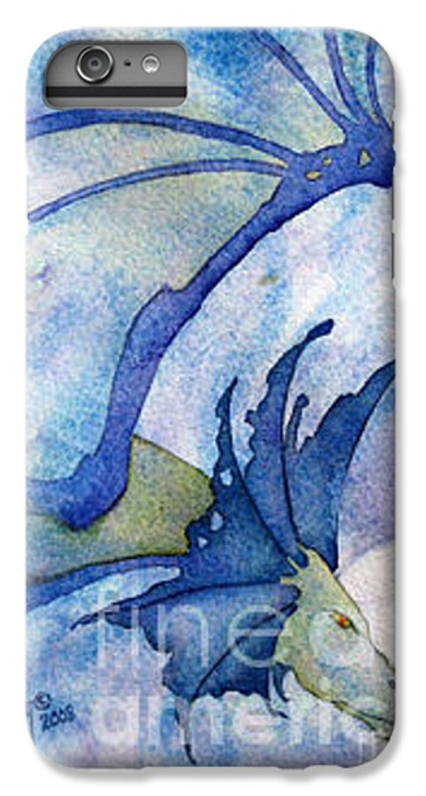 Dragon IPhone 6s Plus Case featuring the painting Moonstone Dragon - Sold by Wendy Froshay