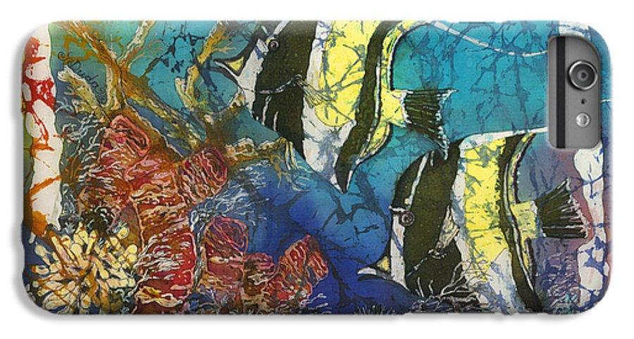 Moorish Idols IPhone 6s Plus Case featuring the painting Moorish Idols by Sue Duda