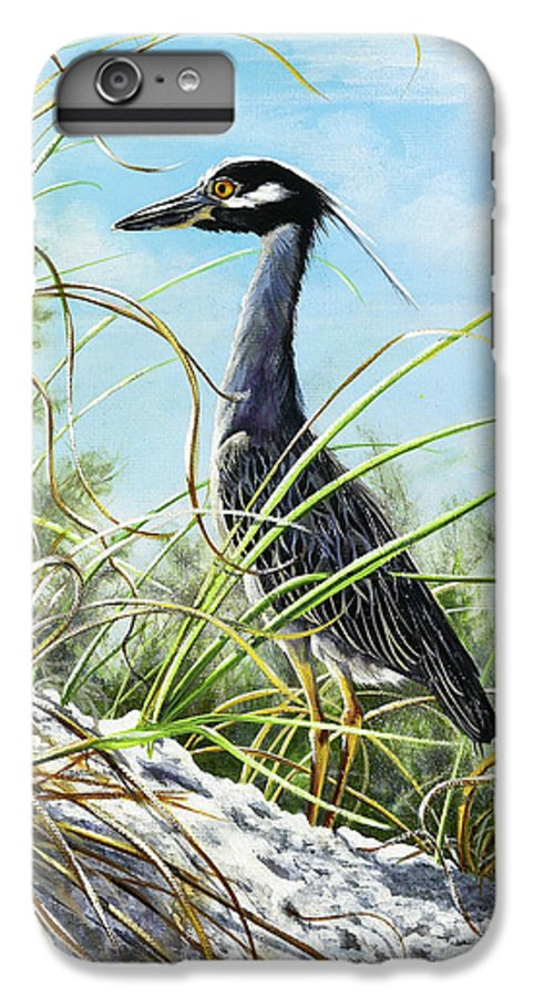 Bird IPhone 6s Plus Case featuring the painting Morning Hunt by Joan Garcia