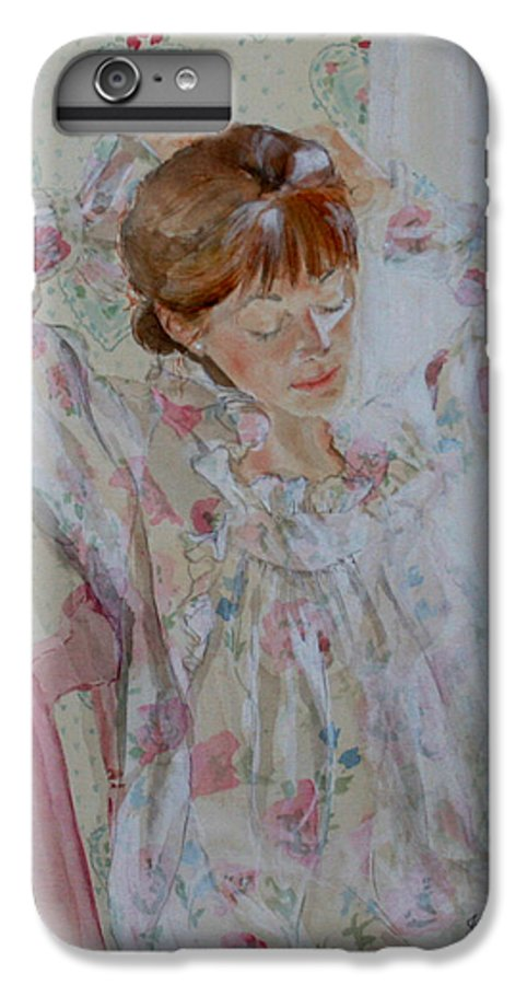 Morning IPhone 6s Plus Case featuring the painting Morning Ritual by Jean Blackmer