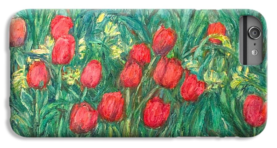 Kendall Kessler IPhone 6s Plus Case featuring the painting Mostly Tulips by Kendall Kessler