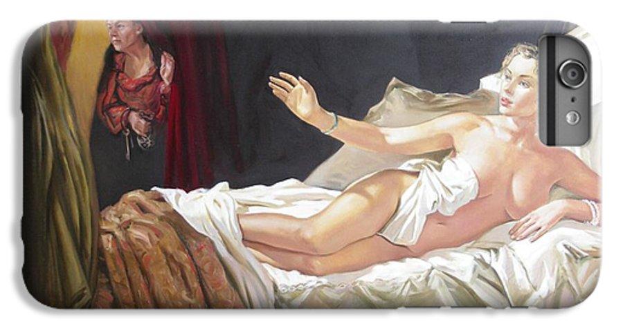 Ignatenko IPhone 6s Plus Case featuring the painting Motif Of Danae by Sergey Ignatenko