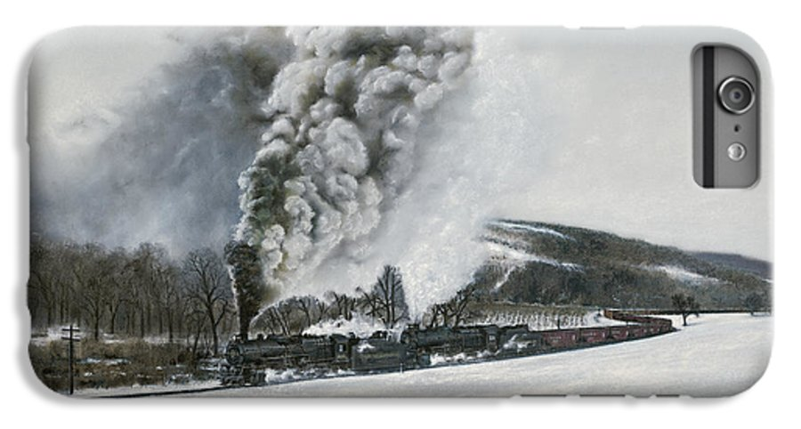 Trains IPhone 6s Plus Case featuring the painting Mount Carmel Eruption by David Mittner