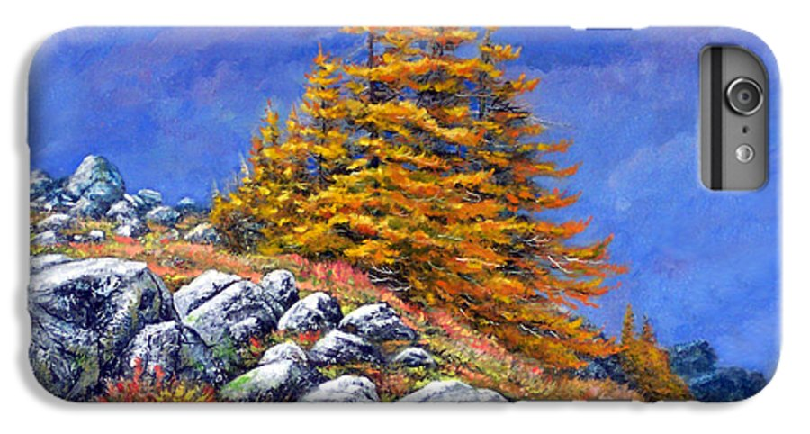 Mountains IPhone 6s Plus Case featuring the painting Mountain Tamaracks by Frank Wilson