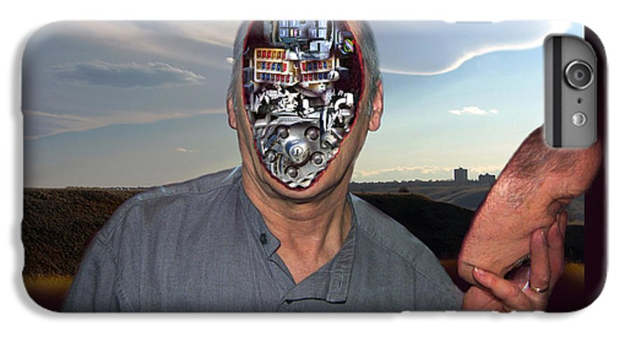 Surrealism IPhone 6s Plus Case featuring the digital art Mr. Robot-otto by Otto Rapp