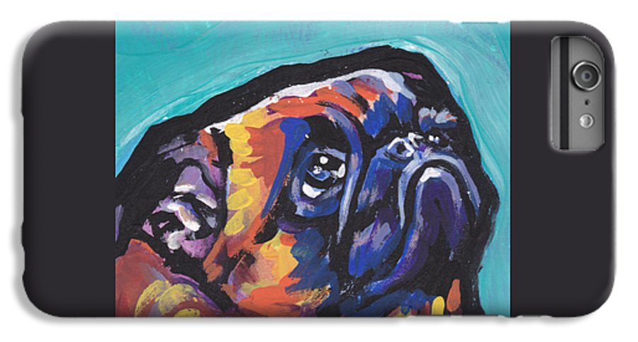 Brussels Griffon IPhone 6s Plus Case featuring the painting My Eyes Adore You by Lea S