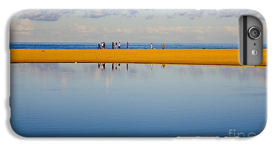 Dunes Lowry Sand Sky Reflection Sun Lifestyle Narrabeen Australia IPhone 6s Plus Case featuring the photograph Narrabeen Dunes by Avalon Fine Art Photography