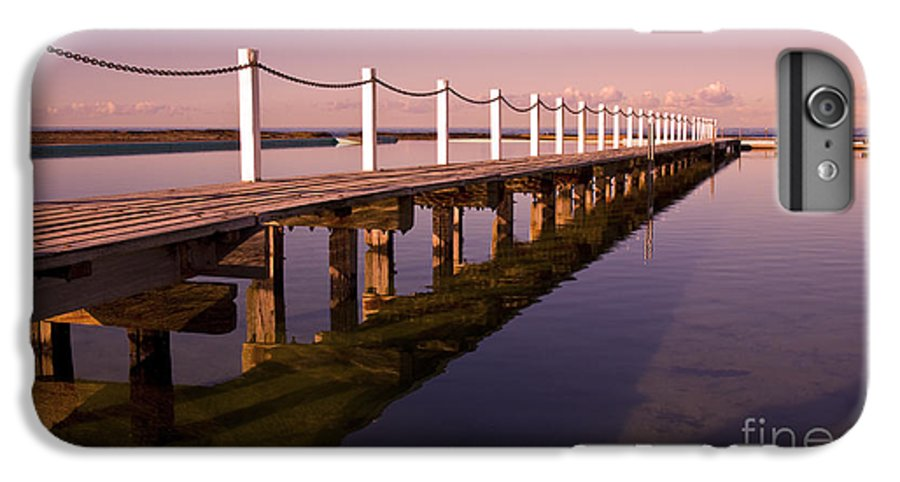 Narrabeen Sydney Sunrise Wharf Walkway IPhone 6s Plus Case featuring the photograph Narrabeen Sunrise by Sheila Smart Fine Art Photography