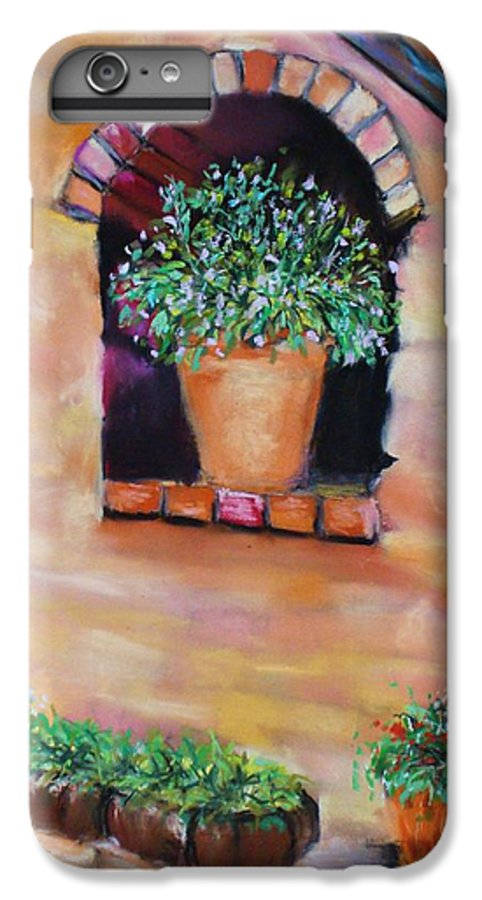 Courtyard IPhone 6s Plus Case featuring the painting Nash's Courtyard by Melinda Etzold