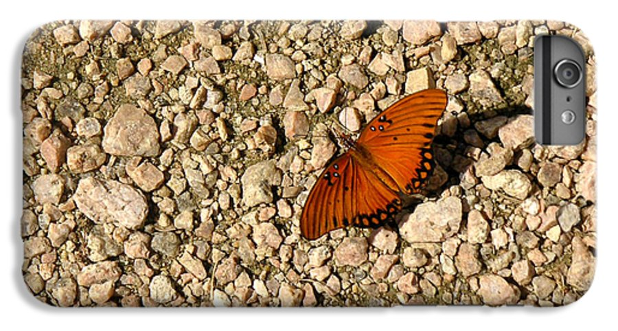 Nature IPhone 6s Plus Case featuring the photograph Nature In The Wild - A Splash Of Color On The Rocks by Lucyna A M Green