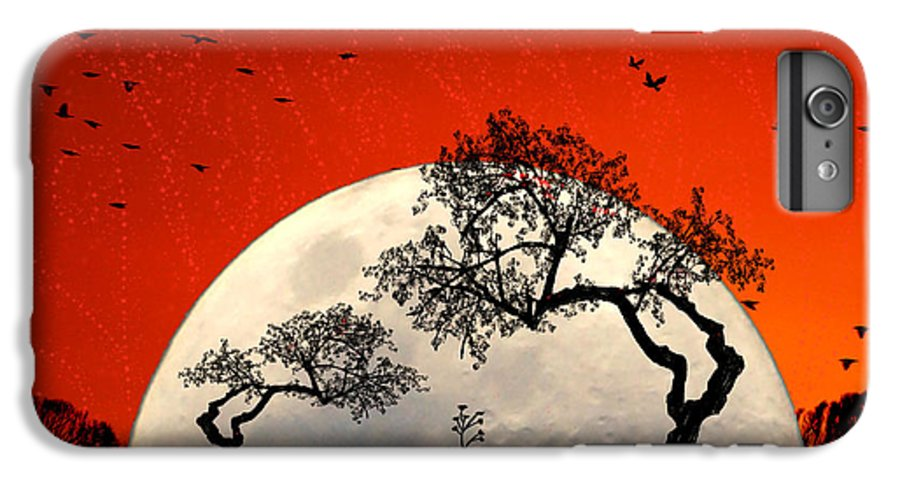 Moon IPhone 6s Plus Case featuring the digital art New Growth New Hope by Holly Kempe