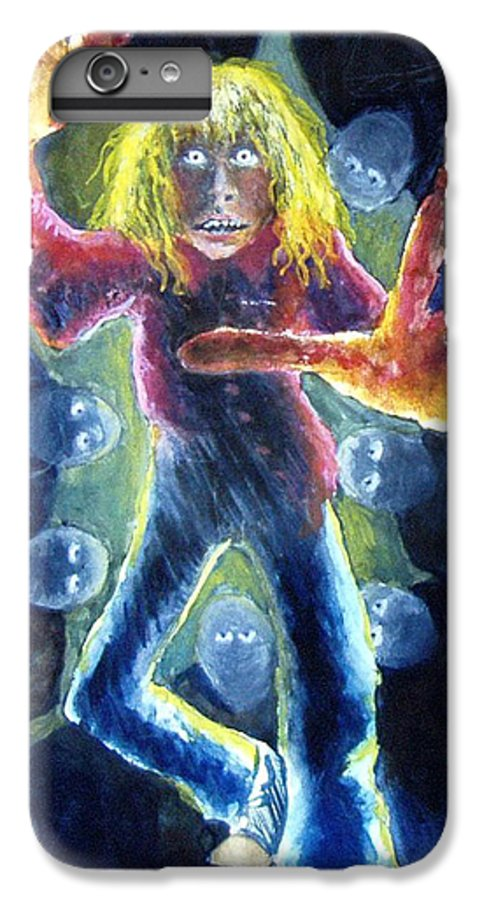 Nightmare IPhone 6s Plus Case featuring the painting Nightmare by Nancy Mueller