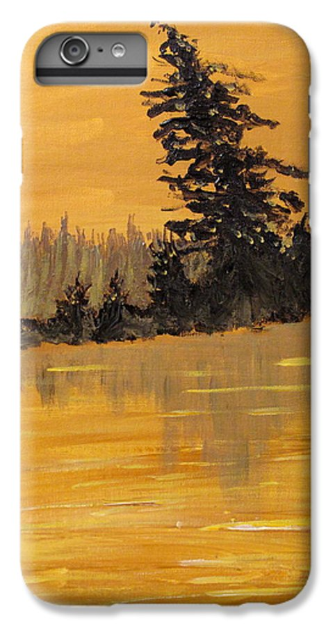 Northern Ontario IPhone 6s Plus Case featuring the painting Northern Ontario Three by Ian MacDonald