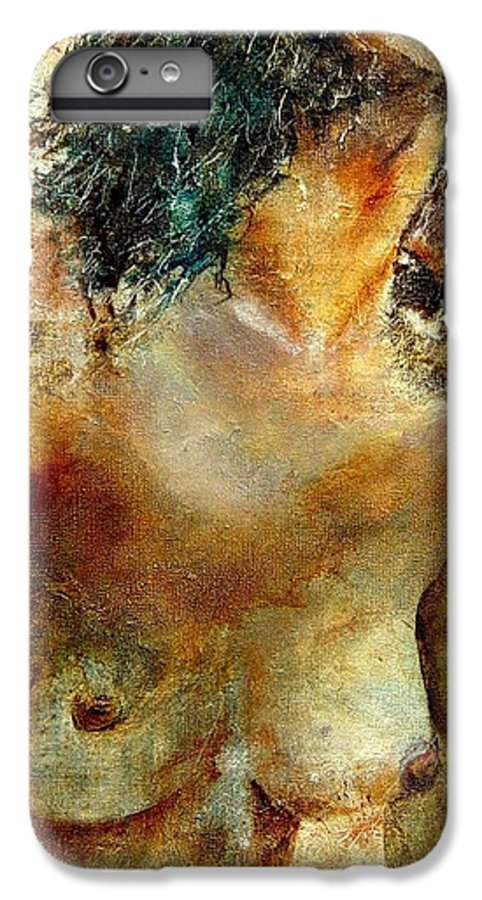 Girl Nude IPhone 6s Plus Case featuring the painting Nude 34 by Pol Ledent
